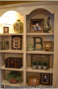 Great tips for accessorizing bookcases, although there ...