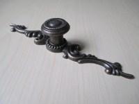 Rustic Dresser Drawer Knobs Pulls Backplate Antique Bronze ...