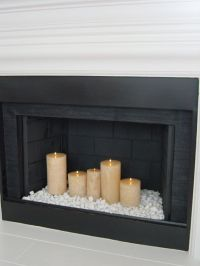 Best 25+ Candles In Fireplace ideas on Pinterest