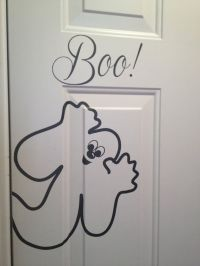 Boo with a Cute Ghost Vinyl Wall Decal di CherryChipCafe ...