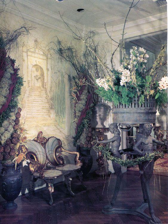 chair design wallpaper office accessories parts trompe l'oeil fantasy in drue heinz's london home. interior by renzo mongiardino and ...