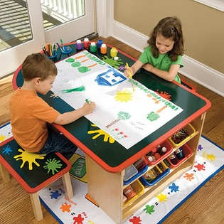 Kids art table Kid art and Art desk on Pinterest
