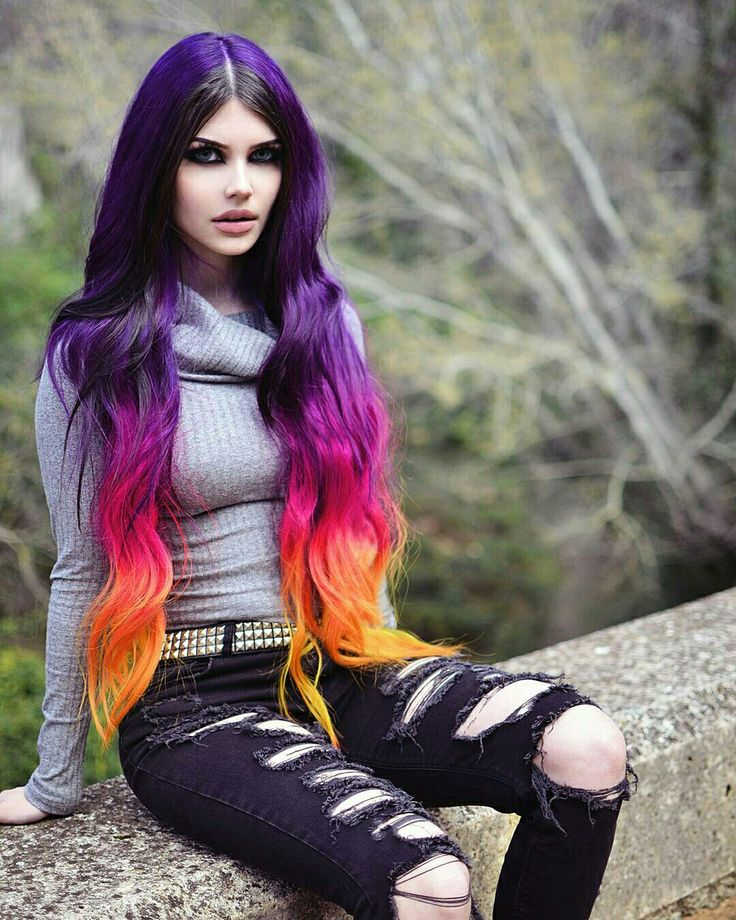 Anime Girl Wallpaper Rainbow Hair 1000 Images About Dayana Crunk On Pinterest