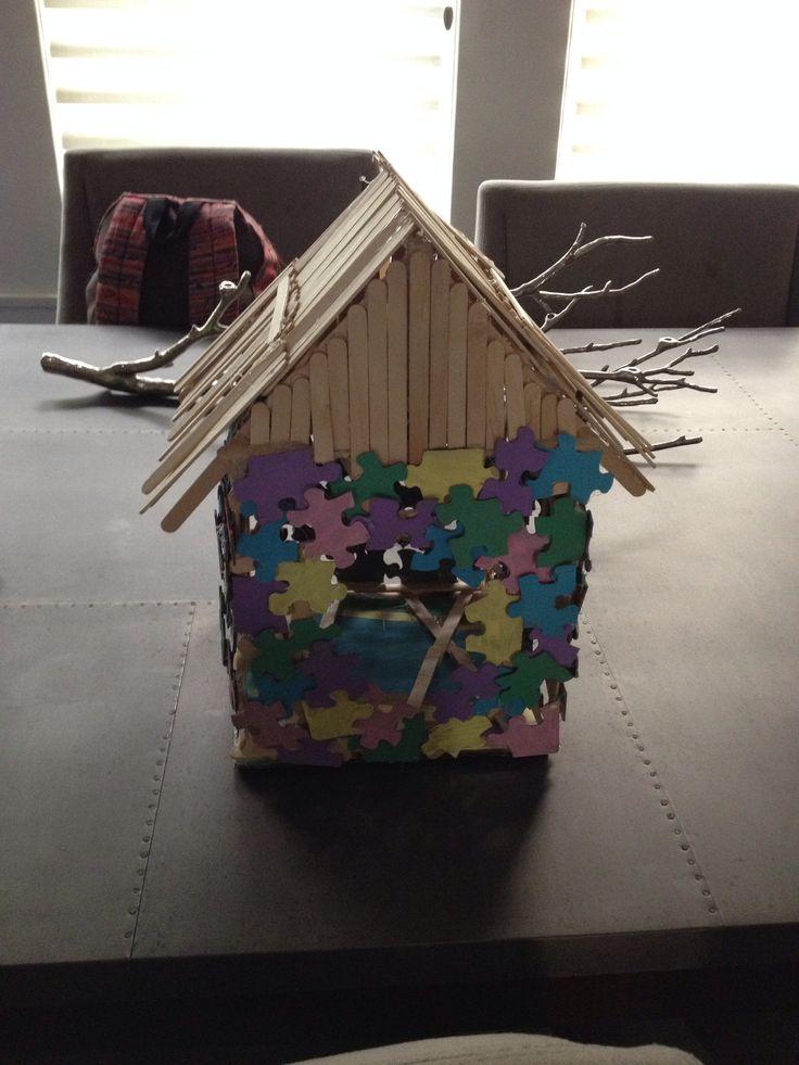 17 Best Ideas About Popsicle Stick Birdhouse On Pinterest