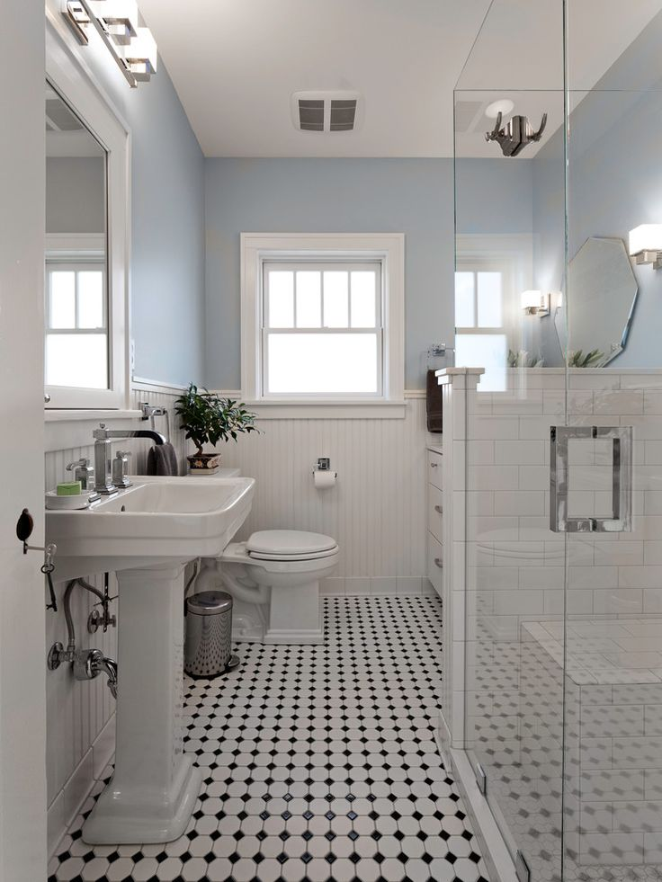 Blue And White Bathroom Bathroom Victorian With Black White   Bathroom Renovation