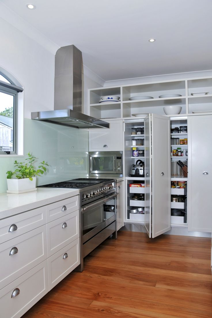 freestanding kitchen pantry l shaped table refresh | white cabinets, cabinets and hardwood floors
