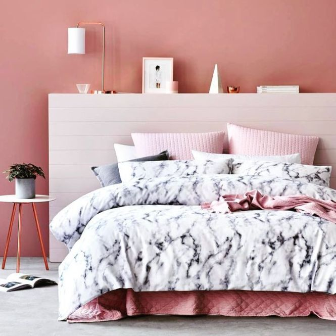 rose gold and grey bedroom ideas - bedroom style ideas
