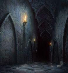 fantasy dark hallway underground dungeons maze mazes