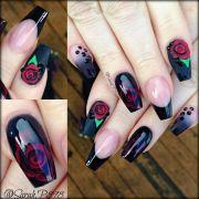 matte black coffin nails nail