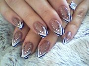 stylish brown abstract tip nail