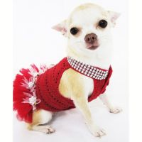 Dog Tutu Dresses Christmas Sexy Hand Crochet Teacup