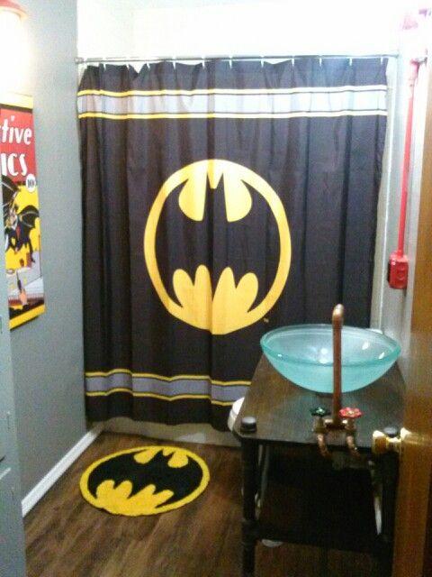 Batman bathroom  Home Improvement  Pinterest  Ducks