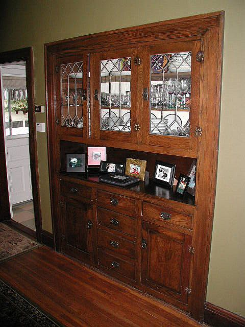 kitchen hutch plans aid gas grills lovely dining room built-in hutch. great leaded glass ...