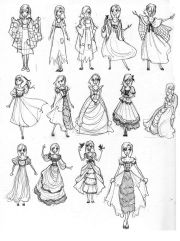 anime dress design cartoon dresses
