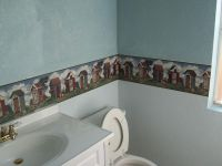 25+ best ideas about Wallpaper Borders For Bathrooms on ...