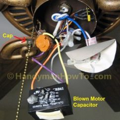 Harbor Breeze Ceiling Fan 3 Speed Switch Wiring Diagram Free Diagrams Weebly Com Fix A Blown Capacitor | Housekeeping Pinterest Fans, Ceilings And Motors