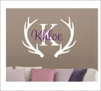 Antler Wall Decal Personalized Decal Vinyl Wall Decal Buck ...