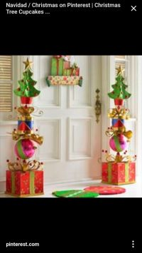 Stacked Glitter Presents Topiary | Christmas Decor | Pinterest