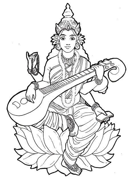 Shiva Parvati Ganesh Coloring Page Sketch Coloring Page