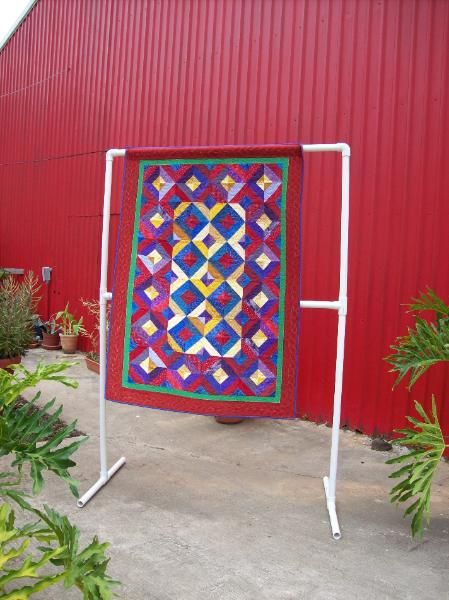 How To Make A Pvc Quilt Rack