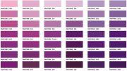 purple hair color chart