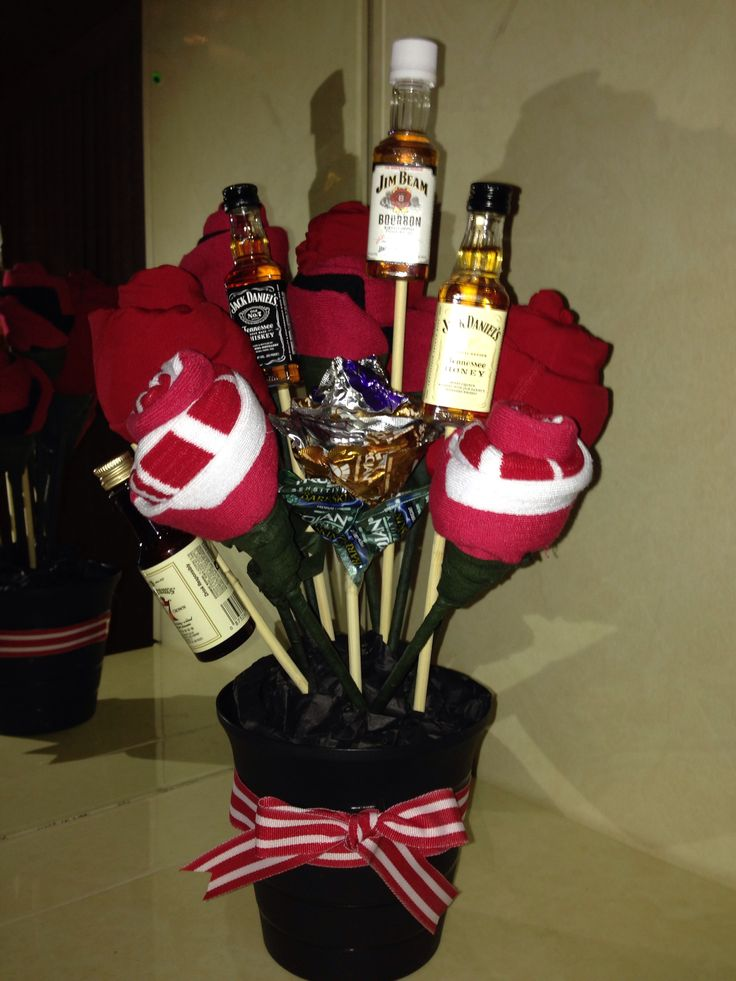 Husbands Man Bouquet Ingredients 3 Pairs Red Microfiber