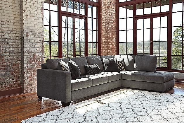 corner sofa with chaise leather sofas and sectionals charcoal owensbe 2-piece sectional - ashley furniture ...