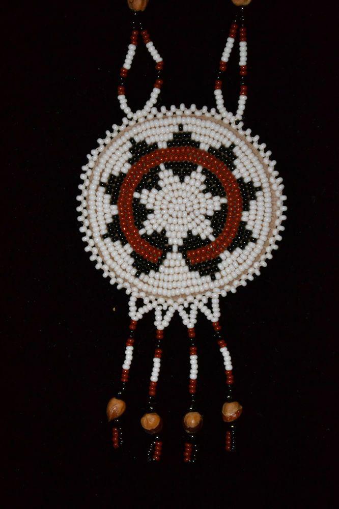Navajo Wedding Basket Design Pendant GhostCedar Beads