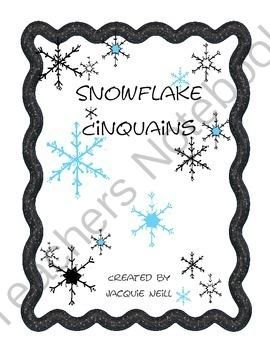 Snowflake Cinquains from JacquieNeill on TeachersNotebook