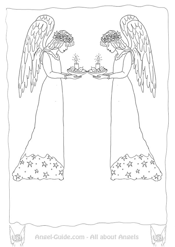 55 best images about ♥ Angel Drawings to Color on