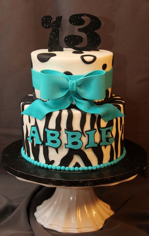 13th Birthday 6 Cute 13th Birthday Cakes For Girls