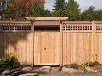 Cedar Fence Designs | home products fences gates gates ...