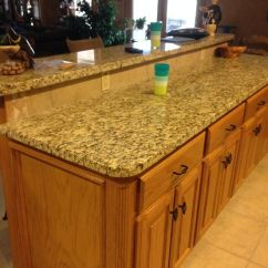 Kitchen Stove Tops Drop Leaf Island With Raised Seating Area Surface Facing The Living ...