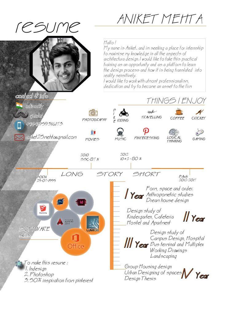 Undergraduate Architecture Resume  Portfolio   Pinterest  Architecture and Resume