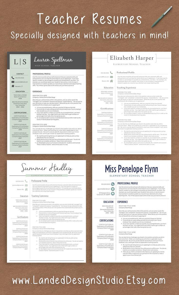 25 Best Ideas about Teacher Resume Template on Pinterest  Application letter for teacher