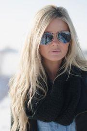 sunglasses natural makeup hair