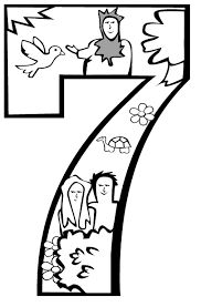 Creation coloring pages, Days of creation and First day on