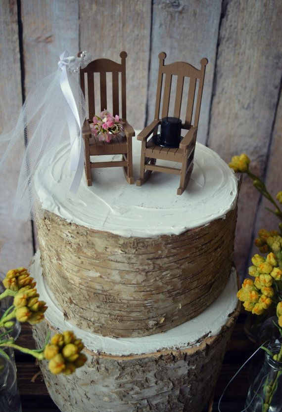 adirondack chair photos bedroom leather rocking chair-cake topper-rustic-shabby-woodlands-mr.and mrs.-wedding cake topper-wedding ...