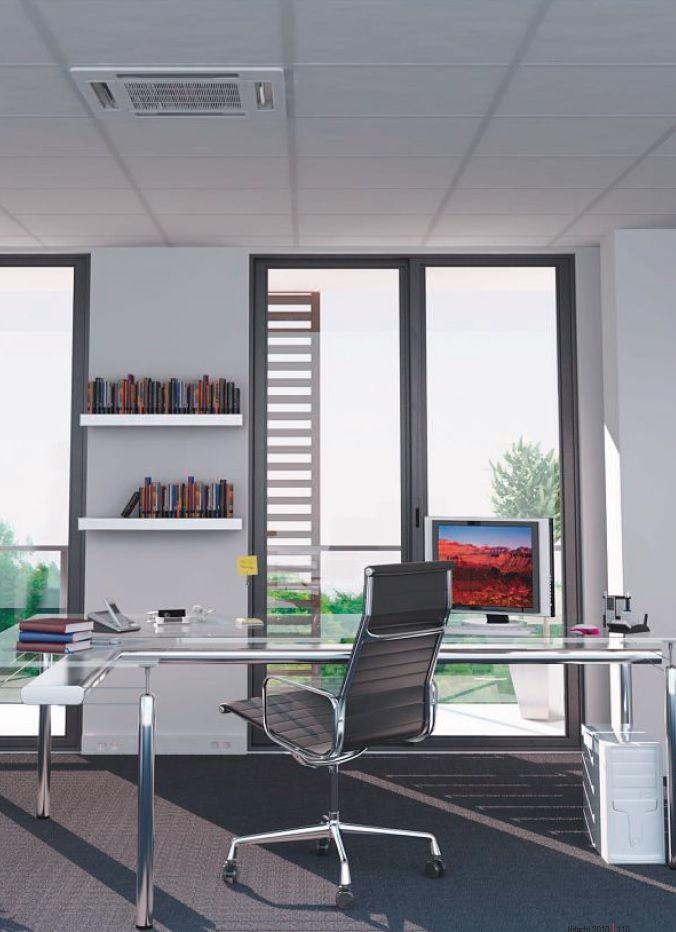 Aire acondicionado split cassette de techo ideal para