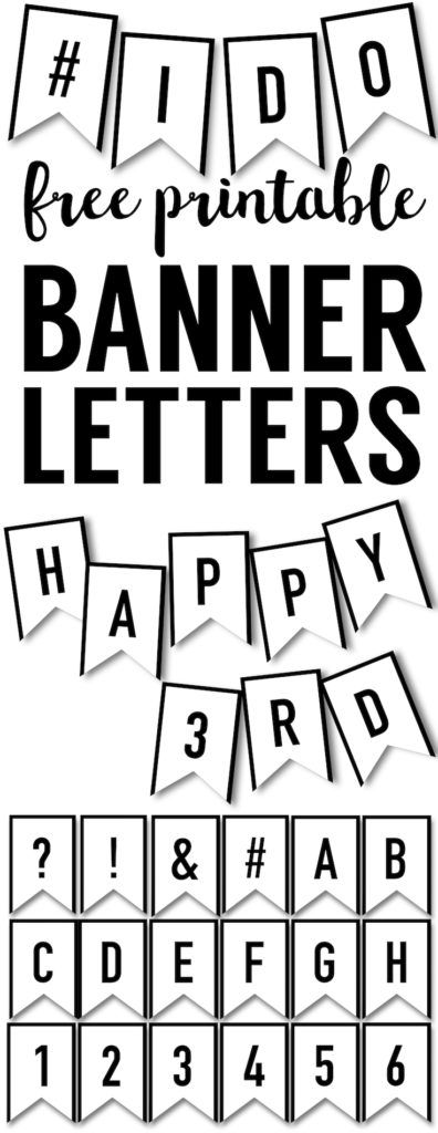 25+ best ideas about Banner Letters on Pinterest