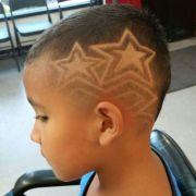 little boys haircuts star design