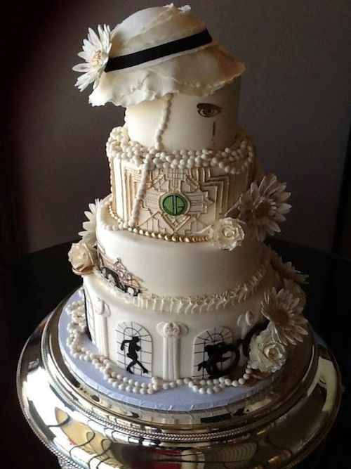 1920s themed Cake perfect for a jazzy andor classy