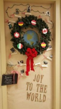 1000+ images about Christmas door decor for work on ...