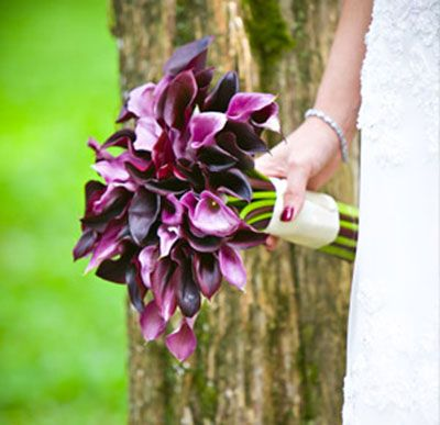Purple Wedding Flowers | purple wedding bridal bouquets 02 Purple Bridal Bouquet