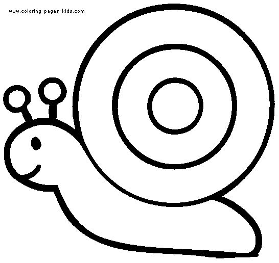 Snail coloring pages, color plate, coloring sheet