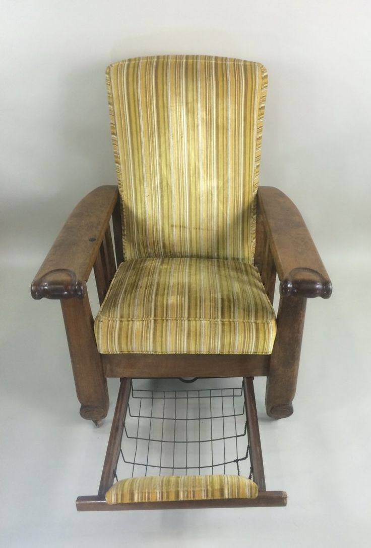 wood recliner chair 14 inch round cushions morris chair. an (1910-1920) early type of reclining the design was adapted by william ...