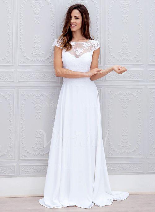 Die 25 Besten Ideen Zu Chiffon Hochzeitskleid Auf Pinterest