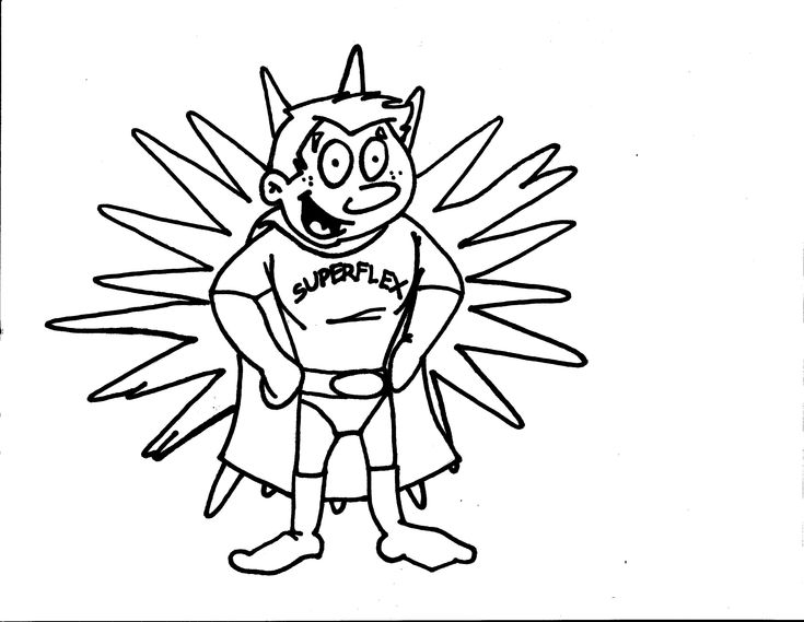Superflex Coloring Page. For each character, Identify the