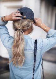 baseball cap hair ideas