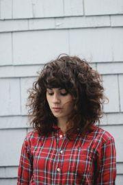 ideas bangs curly